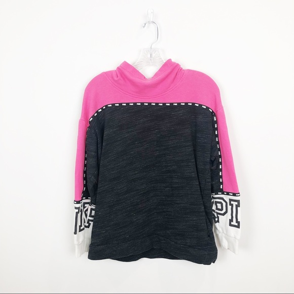 PINK Victoria's Secret Tops - PINK Victoria's Secret Pink Colorblock Sweatshirt